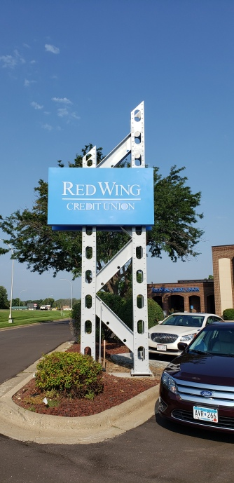 Red Wing Credit Union Sign
