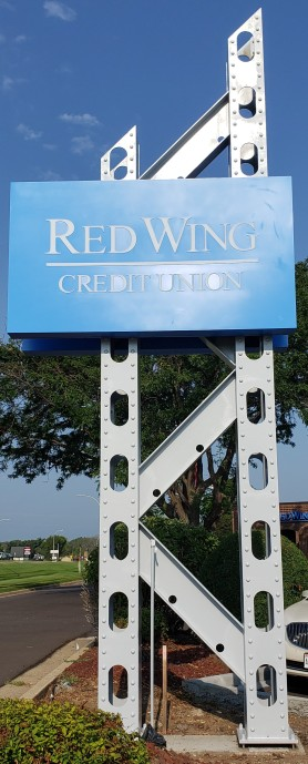 RW Credit Union Sign